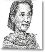 Aung San Suu Kyi Metal Print