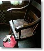 Aunt Tillie's Sewing Chair Metal Print by Julie Dant