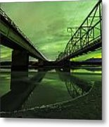 Aurora Bridge Metal Print