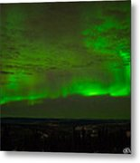 Aurora Flare With Clouds Metal Print