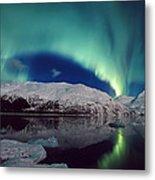 Aurora Over Portage Metal Print