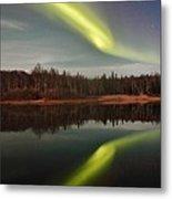 Aurora Reflections Metal Print
