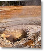 Aurum Geyser In Upper Geyser Basin In Yellowstone National Park Metal Print