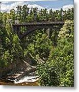 Ausable Chasm Bridge Metal Print