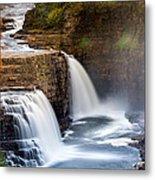 Ausable Chasm Waterfall Metal Print