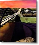 Austin 360 Bridge Metal Print