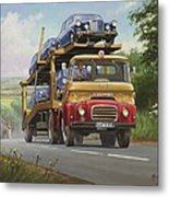 Austin Carrimore Transporter Metal Print by Mike  Jeffries