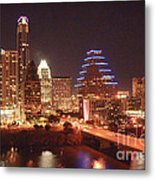 Austin Lights The Night Metal Print by Terry Rowe