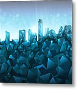 Austin Skyline Geometry 3 Metal Print