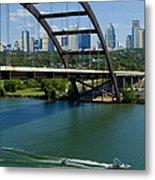 Austin Texas 360 Bridge Vert Metal Print