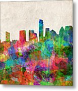 Austin Texas Abstract Panorama 4 Metal Print