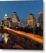 Austin, Texas Cityscape Evening Skyline Metal Print