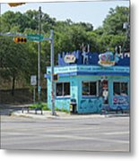 Austin Texas Congress Street Shop Metal Print