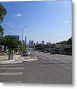 Austin Texas Congress Street View Metal Print