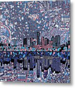 Austin Texas Skyline 3 Metal Print