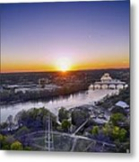 Austin Texas Sunset Hour Metal Print