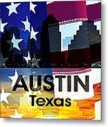 Austin Tx Patriotic Large Cityscape Metal Print