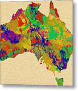 Australia Watercolor   Metal Print