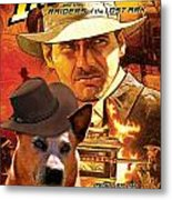Australian Cattle Dog Art Canvas Print - Indiana Jones Movie Poster Metal Print