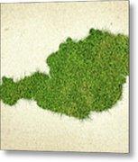 Austria Grass Map Metal Print
