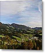 Austrian Autumn Scenic Panorama 2 Metal Print