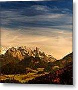 Austrian Autumn Scenic Panorama Metal Print