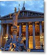 Austrian Parliament Building Metal Print