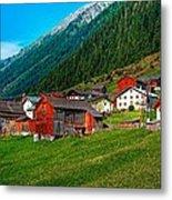 Austrian Village Metal Print