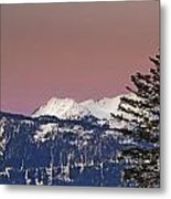 Austrian Winter Scenic Panorama Metal Print