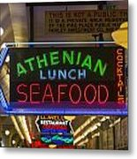 Authentic Lunch Seafood Metal Print