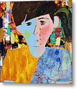 Autism - Child And Mother Metal Print