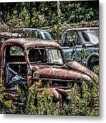 Auto Junk Yard Metal Print