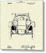 Automobile 1920 Patent Art Metal Print
