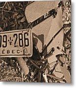 Automobile Graveyard Metal Print