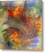 Autumn Ablaze - Square Version Metal Print