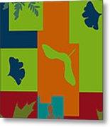 Autumn Abstract A La Matisse Metal Print