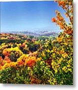 Autumn Across The Hills Metal Print