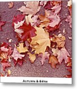 Autumn And Eighty Fourth Metal Print