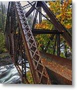 Autumn And Iron Metal Print