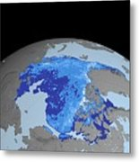 Autumn Arctic Sea Ice Thickness Metal Print