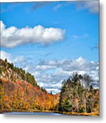 Autumn At Bald Mountain Pond Metal Print