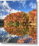 Autumn At Boley Lake Metal Print by Jaki Miller
