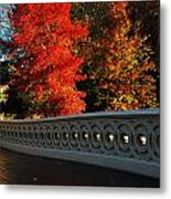 Autumn At Bow Bridge Metal Print