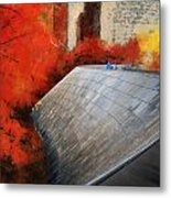 Autumn At Chicago Millennium Park Bp Bridge Mixed Media 03 Metal Print