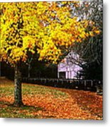 Autumn At Old Mill Metal Print