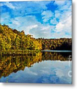 Autumn At Sailboat Cove Metal Print