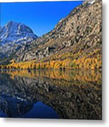 Autumn At Silver Lake Metal Print