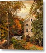 Autumn At Stone Mill Metal Print