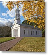 Autumn At The Chapel Metal Print by Gordon  Grimwade
