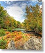 Autumn At The Creek - Green Lane - Pennsylvania - Usa Metal Print